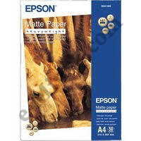 Фотобумага Epson Matte Paper - Heavyweight A4, 167 / матовая/ 50л (EPPS041256), КНР