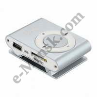MP3 плеер Perfeo Music Clip Titanium VI-M001 (MP3 Player, MicroSDHC, USB2.0,  Li-Ion), КНР